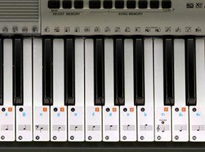 Autocollants Keysies amovibles en plastique transparent pour touches de piano et clavier – Transparent, Amovible