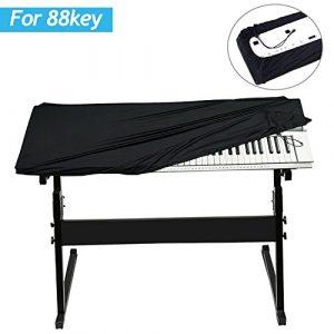 Gifort 88 Clavier Piano Couverture Électronique Étirable Piano Couverture Piano Clavier Dust Cover Clavier Couverture Protecteur pour Piano