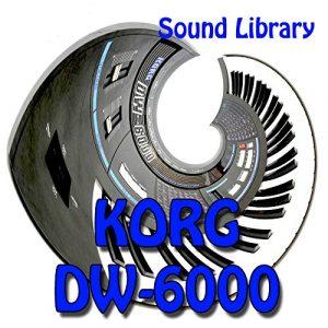 Korg Dw-6000–Grande Course Original et NEUF Créé Bibliothèque de sons/Opérant sur CD ou téléchargement