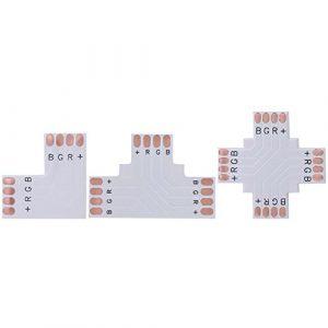 Matefield Lot de 10 connecteurs de coin FPCB 4 broches 5050 RGB 10 mm