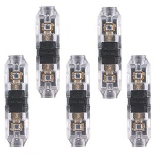 Matefield Lot de 5 connecteurs de câblage à sertir pour bande LED (I/1 broche)