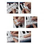ounona Stickers pour Touches de piano, orgue électronique de Autocollants Transparent 61/88 Key piano autocollants Keyboard Music Note universel pour Piano Facile heures