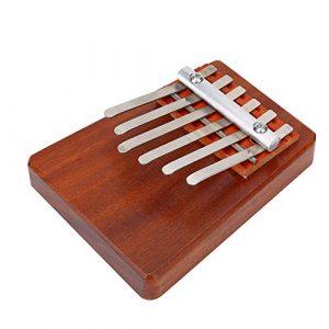 Piano à Pouce Kalimba Mbira Doigt Piano 5 / 6 Clé Outil Entraînement d'Instruments de Musique en Bois Palissandre pour Débutants Enfants ( Edition : 6 KEYS-brown )