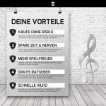 Piano + Clavier de notes autocollants ★ [Version allemande] pour instruments avec 49–61–76–88Touches Premium ★ Piano Sticker pour noire & blanche touches + e-book Notenaufkleber (weiße & schwarze Tasten)