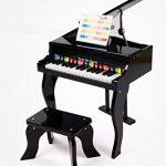 puzzlespielpädagogisches Simulation Jouets Piano 30clés Instrument de musique Enfants Grade Petit Piano Bois Instrument C