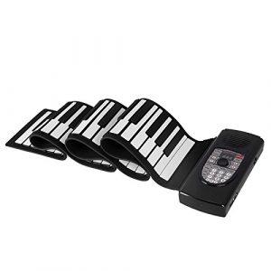 Rolled 88-Key Clavier portable professionnelle faltende rembourré professionnelle Hammond Orgue