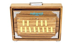 Shruti Box/ Surpeti, Maharaja Musicals, Teak Wood – 13 Drone Notes C-to-C Shruthi Indian Musical Instrument (PDI-ABC)