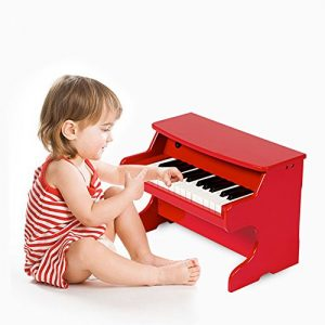 Wooden Piano Jouet Musical Piano 25Key Simulation Jeu pour enfants infantile début éducation, Violon, Red