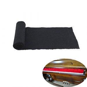 chytaii Boîtier Chiffon pour clavier de Piano poussière hidrófugo Paquet de 1 noir