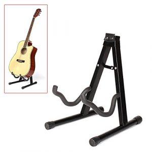 Dcolor 190mm Pliant Trepied Porte guitare Electro-acoustique Basse Noire