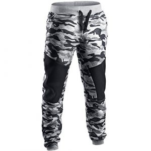 Pantalons Hommes Imprimé Camouflage FantaisieZ Patchwork DéContracté Sweatpants De Sport Bouffant SurvêTement Long Printemps Automnr Trousers Homme Pants Marine Gris