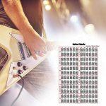 AIflyMi Stickers de Touche de Guitare pour Guitare, Autocollant de Carte de Touche pour Les débutants