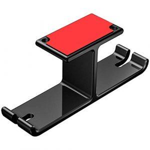 Enterrific Headphone Stand Dual Headset Holder Hanger Punch Free Under Desk Aluminum Alloy