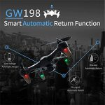 Oasics X198 Drone grand angle 1080P HD Caméra 5G WIFI FPV Follow Me 6 axes Jet Brushless Moteur RC Quadcopter ONE SIZE bleu