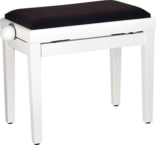 Steinbach 401 Banc de piano avec assise en tissu marron mat