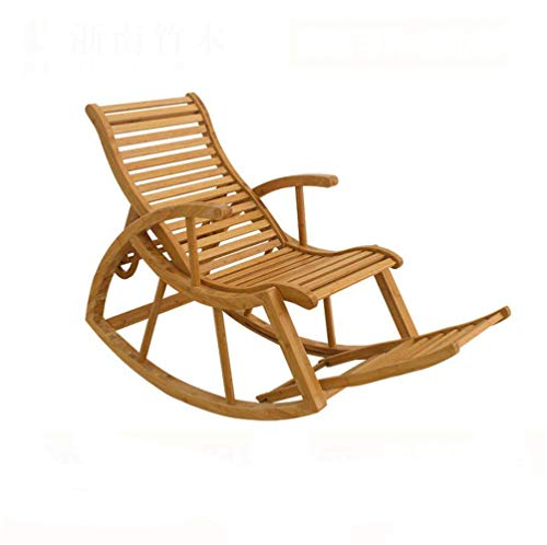 YAMEIJIA Pédale de Pied en Bambou Vert de Style Chinois rétractable Chaise à Bascule Moderne Minimaliste Maison Loisirs déjeuner Pause Chaise