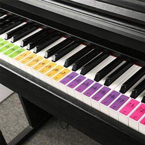 Lot de 4 autocollants 88 touches pour clavier de piano 61 touches et clavier électronique 88 touches
