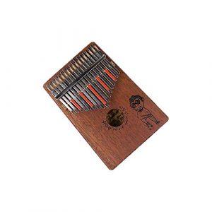 Guyuexuan Piano Kalimba 17 touches, en acajou pur, beau ton, facile à transporter, facile à apprendre, couleur bois, son original, dernier cri Excellent matériel (Color : Brown-C)