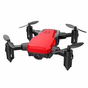 Oasics Drone Mini D2WH Pliable avec Wifi FPV 2.0MP HD Caméra 2.4G 6 axes RC Quadcopter Drone Taille: Env. 13 x 7 cm (L x W) Größe: ca. 13 x 7 cm (LxW) rouge
