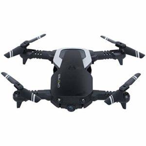 Oasics H2 Drone 2,4 GHz 4 CH WiFi FPV Optical Flow Dual 720P HD Camera RC Quadcopter Drone Quadricoptère 12 x 7 x 3 cm Quadcopter-Größe: 12x7x3CM (gefaltet) Noir
