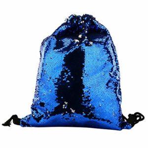 Oasics Sac cosmétique Petit sac cosmétique pour femme Sac de maquillage Sequin Makeup Bag Réversible Sac de rangement Sac à main Organisateur Produktgröße: 45 × 35 cm bleu