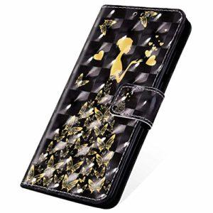 SainCat Coque pour Nokia 5.1, Housse Portefeuille en Cuir Emplacement pour Cartes + Fermeture Magnétique Etui avec Fonction de Support Antichoc Coque pour Nokia 5.1-Femme Papillon
