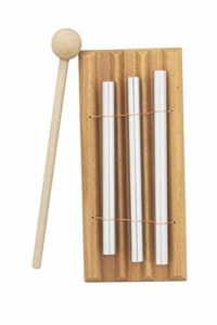 1 PC En Bois Percussion Trois Bar Chime Percussion 3 Toner Instruments De Musique avec Percussion En Bois Marteau Jpstyle
