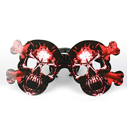 hou zhi liang Halloween Shantou Lunettes effrayantes Jouets pour Enfants Décoration Déguisement (Rouge) 1PCS