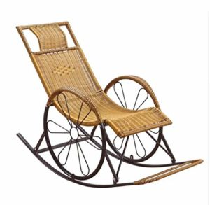 YAMEIJIA Chaise basculante inclinable Chaise basculante Balcon Chaise inclinable Adulte Pliant déjeuner Pause Siesta Leisure Chaise âgée,A