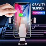 YYCOOL Support de téléphone Portable Gravity en Alliage d'aluminium avec Clip de Sortie d'air, antidérapant, Anti-Chute, pour XS/X/8/8 Plus/7/7 Plus/Samsung Galaxy S8/Note 8, etc.