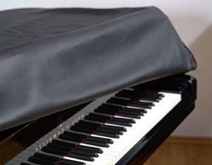 Couverture à ailettes Steinway Mod. O 180 cm Cuir synthétique noir – Fabriqué en Allemagne