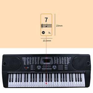Balight clavier de piano transparent autocollant 88/61/54 clé clavier électronique Stave Piano Sticker note