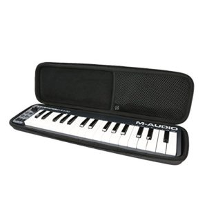 Khanka Housse de transport, coque rigide, sac de voyage pour contrôleur de clavier portable M-Audio Keystation Mini 32-key USB/MIDI