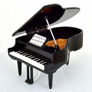 Piano à queue noir miniature