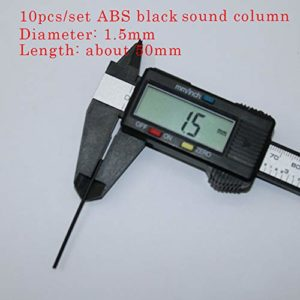 Sourcingmap Lot de 10 colonnettes de sonorité latérales en ABS pour guitare Blanc/noir Diamètre 1,5 mm 2 mm 1.5bk