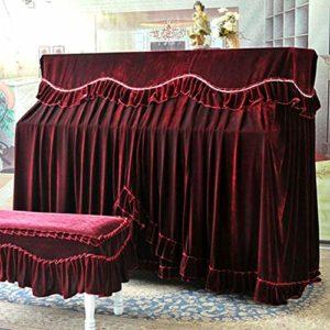 MICEROSHE Tissu De Couverture De Piano Complet Quatre Couleurs European Piano Vertical Parfaitement Flanelle Thicken de Protection Anti-poussière avec Banc de Piano Couverture