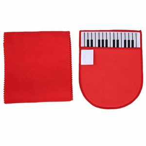 2pcs piano housse de nettoyage en tissu gant de nettoyage pour instrument de musique guitare, piano, violon, saxophone, clarinette, flûte universelle