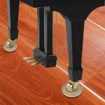 3 PCS en bois massif Piano Caster Cups Universal Round Cup Grain de bois Grand Piano Mats Tapis de pied pour piano Pads antidérapants – Couleur bois