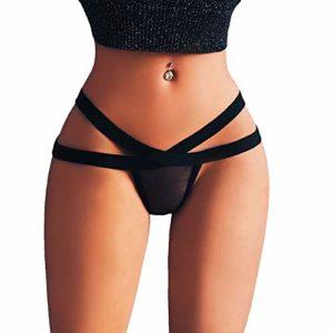 CIELLTE String Femme Culottes Lingerie Sexy G-String Slips Femme Culotte Sexy en Mesh pour Femme Shorties Femme Culottes Slips Femme