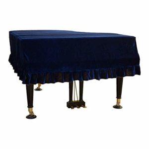 G-AO De haute qualité velours housse de protection de couverture du piano clavier couvercle triangle manuel poussière protection du climat doux résistant aux rayures (couleur: bleu, taille: 210cm)