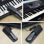 Alomejor Clavier Sustain Pedal Piano Universal Antidérapant Style Damper Foot Pedals for Electric Piano Keyboard Synthesizer and Organ