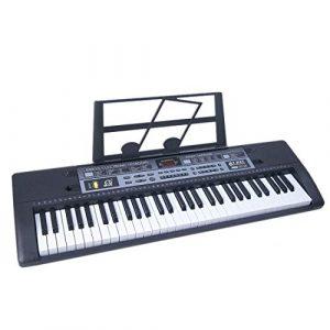 AMITAS Clavier Electronique, Piano Numérique 61 Touches Piano Jouet Clavier avec Microphone et Connecteur d'alimentation Pour Enfants/Débutants