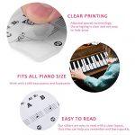 Autocollants de piano, Adhésif-clavier transparent Stickers de piano De Clavier 61/88(noir)