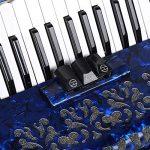 Bnineteenteam Accordéon Musical 26 Instruments durables de Basse Grave accordéon Instrumental(Bleu)
