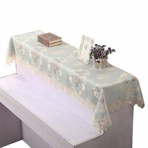 Contactsly-home Serviette de Nettoyage pour Piano Style européen Demi-Couverture en Dentelle brodée Résistant à la poussière Tissu Jacquard épais Cadeau d'anniversaire, Jacquard, Vert, 83x198cm