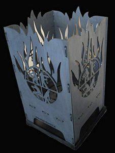 D&S Vertriebs GmbH Panier à feu design en acier R L B S 40 x 40 x 80 cm