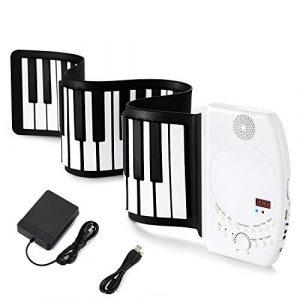 Donner Piano Souple Clavier Enroulable 61 Touches Portable avec Haut-parleur Intégré