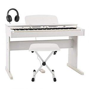 DP-6 Piano Numerique par Gear4music + Pack Accessoires Blanc