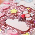 Edaroo Coque Pour iPhone XR 6.1″, Paillette Liquide Rosa 3D Diamant BrillanteGlitter Transparente Souple Tpu Gel Case Kawaii Licorne Modèle Antichoc Protection Etui Housse Bumper