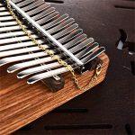 FEE-ZC Piano À Pouces Exquis À 17 Touches, Instrument De Musique Africain Kalimba Piano À Doigt Portable À Piano Solide avec Mélodie B (Couleur: Bois, Taille: Taille Gratuite)